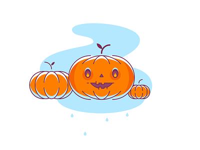 Halloween Icons - Pumpkin edgy branding vector character web glyph ui line flat color shape logo simple icon illustration
