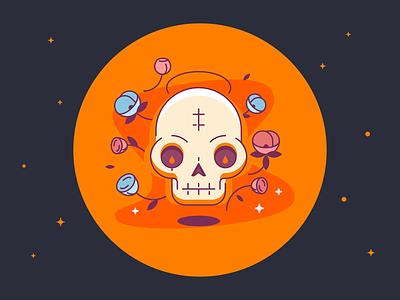 Skull Icon vector design web clean edgy ui glyph logo line color shape icon simple illustration