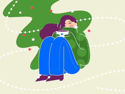 Christmas icon simple logo color character stars christmas vector flat glyph shape illustration
