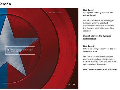 Captain America: Civil War (2016)   Windows 10 lock screen captain america marvel microsoft microsoft store windows store windows windows 10 entertainment campaign narrative campaign content experience copywriting