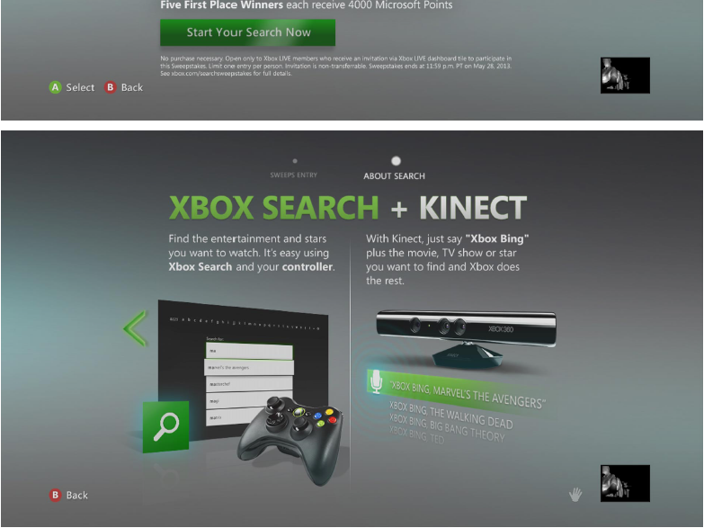 Search & Win | Xbox Search + Kinect experiment (2013) by