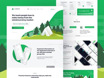 The Trading Camp Site art graphic design website web ux ui app vector minimal design