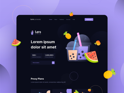 Taro Proxies Site website graphic design branding illustration web ux ui vector minimal design