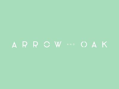 Arrow and Oak Logo Version 1b modern mcm green branding logomark brandmark bag yellow blue logo design logo
