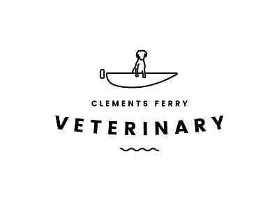 Clements Ferry Vet Logo gsp dog friendly branding logomark brandmark logo design logo