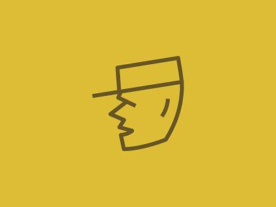 Bailey Ration Logo Mascot lines branding logomark brandmark army mascot yellow logo design logo