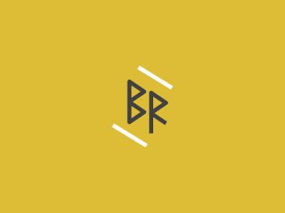 Bailey Ration Logo business lines branding logomark brandmark blog brown yellow logo