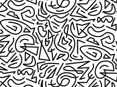Line Art Challenge squiggles faces line art pattern bold curvy strait line