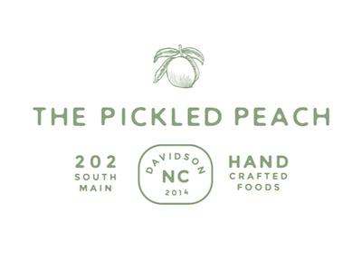 Pickled Peach Logo pickled peach illustration wayward logo custom type