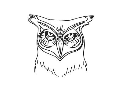 Wise One Owl packaging label logo line art sketch wise moon hops owl beer