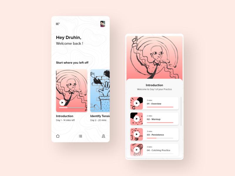 Stamurai Mobile App Design Concept