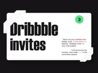 3x Dribbble Invites Giveaway modern product design motion design web design animation web mail typography branding ux design ui druhin clean flat minimal adobe xd invite dribbble invite dribbble