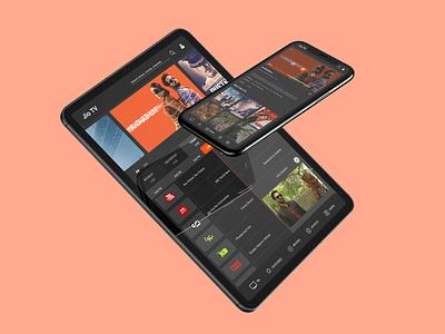 Jio TV - Video Player | Minimizer schedule dribbble invite interaction minimize netflix tablet design jio tv movie streaming app mobile ux ui design druhin clean flat minimal adobe xd