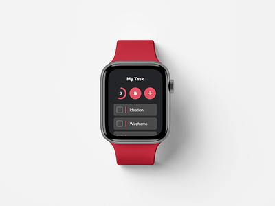 Smart watch - Task Manager smartphone todo app calendar ui interaction management task watchos watch smart ui smartwatch mobile app ux design ui druhin clean flat minimal adobe xd