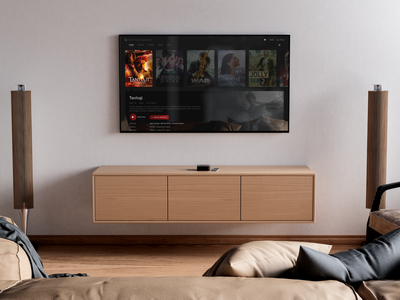 Smart TV - UI Design - Movie Details dribbble invite animation interaction smart home netflix movies tv smart tv typography branding ux design ui druhin clean flat minimal adobe xd