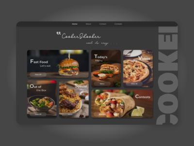 CookerShooker - Web Design Concept - Food Website - Landing Page