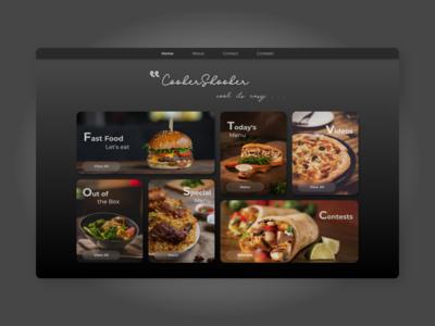 CookerShooker - Final Web Design - Food Website - Landing Page