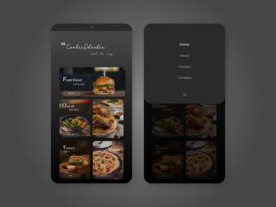 CookerShooker - Mobile Web Design - Food Website - Landing page
