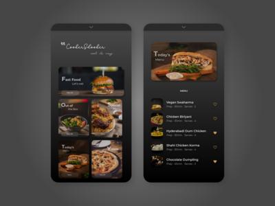 CookerShooker - Mobile Web Design - Food Website - Menu Design