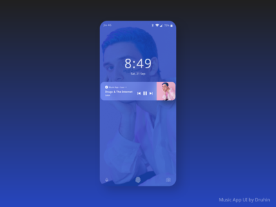 Music App UI Concept ( Music Player - Lock Screen )