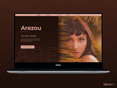 'Arezou' - beauty care - Desktop Website Design concept