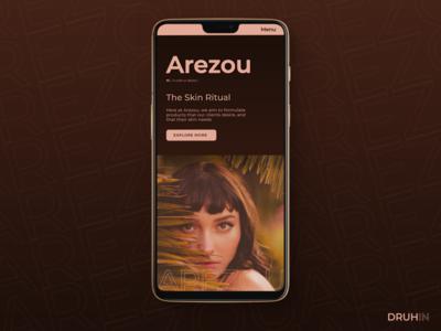 'Arezou' - beauty care - Mobile Website Design concept
