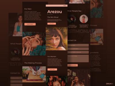 'Arezou' - beauty care - Mobile Website Full Design concept