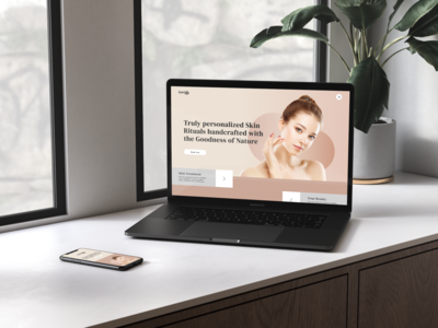 Beauty Care Website Design