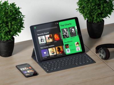 Spotify Tablet UI Design
