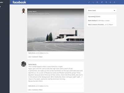 Facebook Redesign feed facebook redesign web ui ux flat rebrand fb news news feed