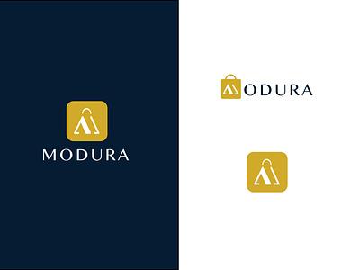 Modura Logo - eCommerce Brand monogram design monogram logo brand identity brand ecommerce app ecommerce monogram logo design icon vector illustration typography logo branding design