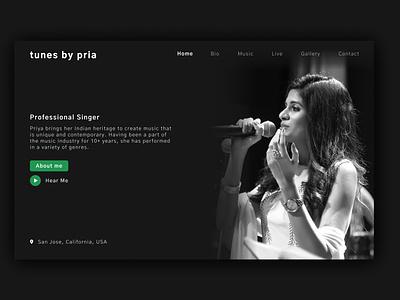 Singer - Website design ux design brand ui design ui website musician music singer landing page landing page design website design web ux design