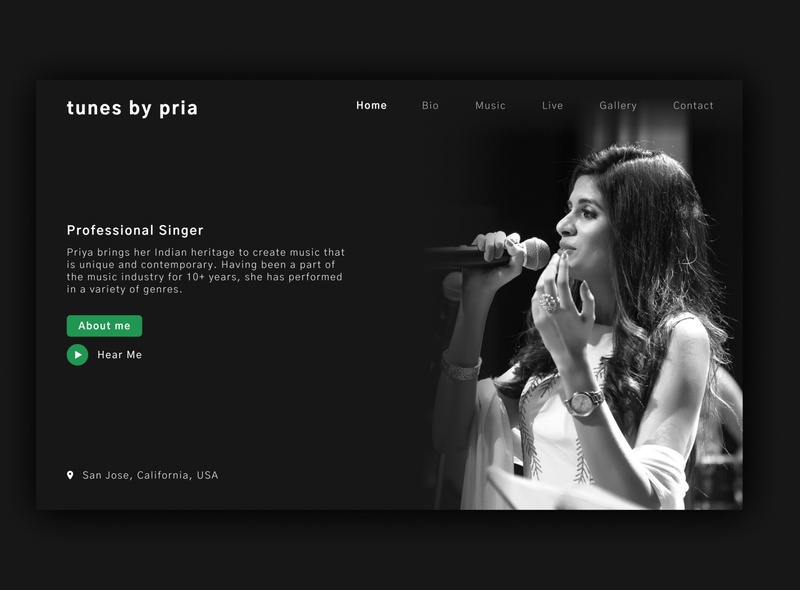 Singer - Website design ux design brand ui design ui website musician music singer landing page landing page design website design web ux design