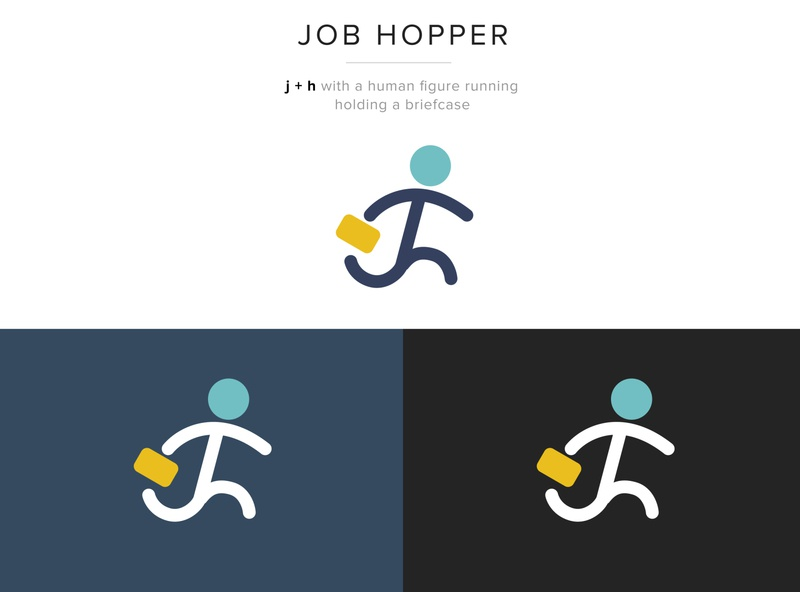 JobHopper Logo Dribbble monogram design monogram recruitment agency job search job job portal job board branding design brand design brand identity icon vector illustration brand ui ux typography branding logo design