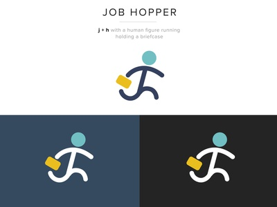 JobHopper Logo Dribbble monogram design monogram recruitment agency job search job job portal job board branding design brand design brand identity icon vector illustration brand ui ux typography branding logo design
