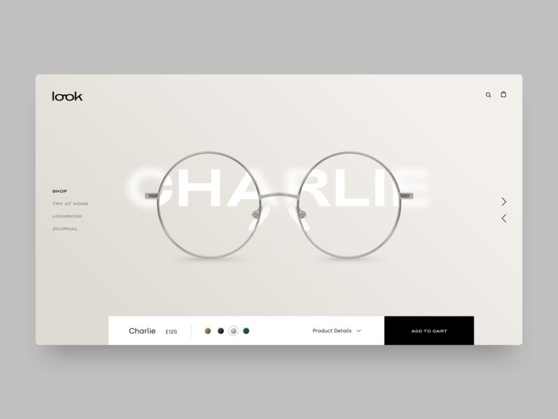 Look concept spectacles optics glasses fashion branding ui ux web design typography website