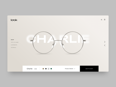 Look concept spectacles optics glasses fashion branding ui ux web design typography website