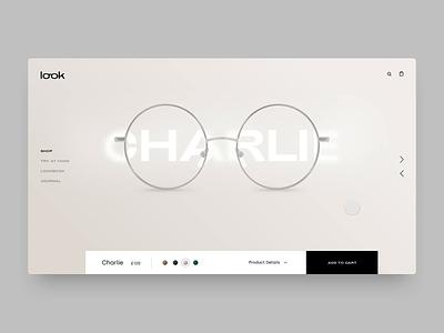 Look fashion ui design concept web design ux ui animation