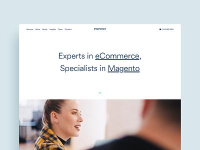 Pinpoint agency website website portolio agency magento