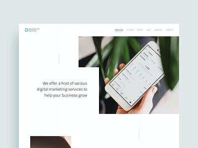 Ingenuity Digital web design ux ui agency portfolio agency website