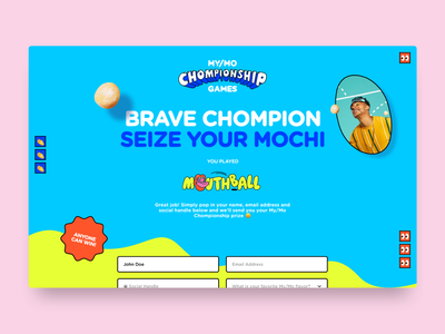 Mo/My Mochi campaign colourful ux ui website design website fun landing page ice cream icecream