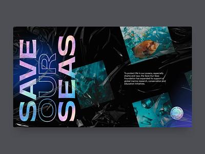 Save Our Seas ocean sealife ux ui landing page web design website pollution plastic sea