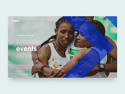 Yelo ux ui web design website portfolio agency marketing sport
