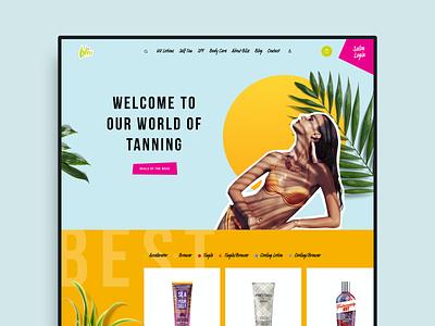 Bliss tanning ecommerce ui ux web design website