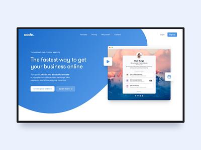 oode ux ui landing page web design website