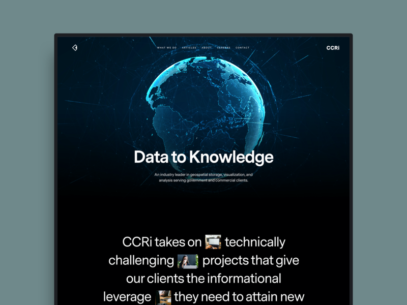 CCRi agency ui ux web design website