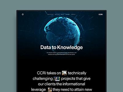 CCRi agency ui ux web design website