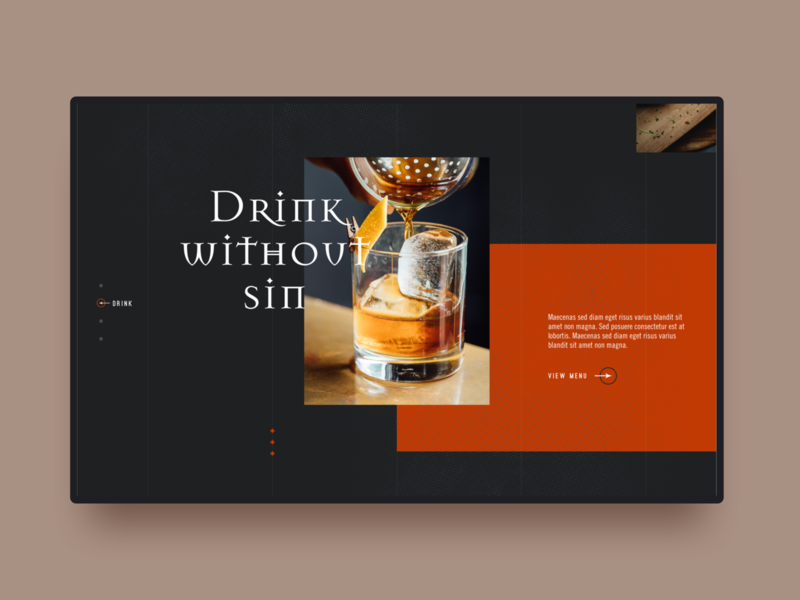 Tribal typography ux ui web design website hospitality restaurant bar