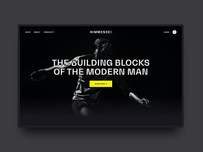 Himmense wellbeing men supplements collagen ui ux web design website