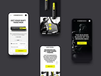 Himmense men supplement wellbeing health ui ux web design website